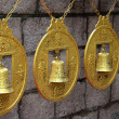 Ancient Chinese bells and coins — Stock Photo