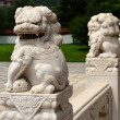 Chinese carved stone lion — Stock Photo