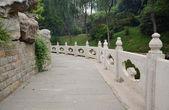 Hörnet av parken bridge — Stockfoto