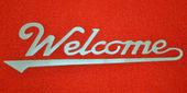 Welcome logo — Stock Photo