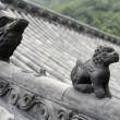 Chinese roof sculpture — Stock Photo