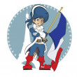 Vector de stock : Vector Illustration: Young musketeer