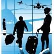 Vector of airline passengers — Stock Vector