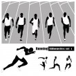Постер, плакат: Vector illustration Athletes running on a track