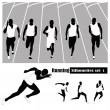Stock Vector: Vector illustration .Athletes running on track