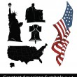 Greatest American Symbols - Stock Vector