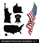 Greatest American Symbols — Stock Vector