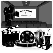 Vector illustration.Cinema symbols vector set — Stock Vector