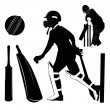 Vector Illustration: Cricket - Stock Vector