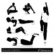 ������, ������: Vector illustration of fitness silhouettes Men fitness