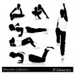 Постер, плакат: Vector illustration of fitness silhouettes Men fitness