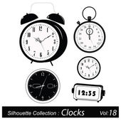 Vector Illustration: Time and timers — Stock Vector