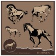 Vector illustration.Editable horse design - Stock Vector