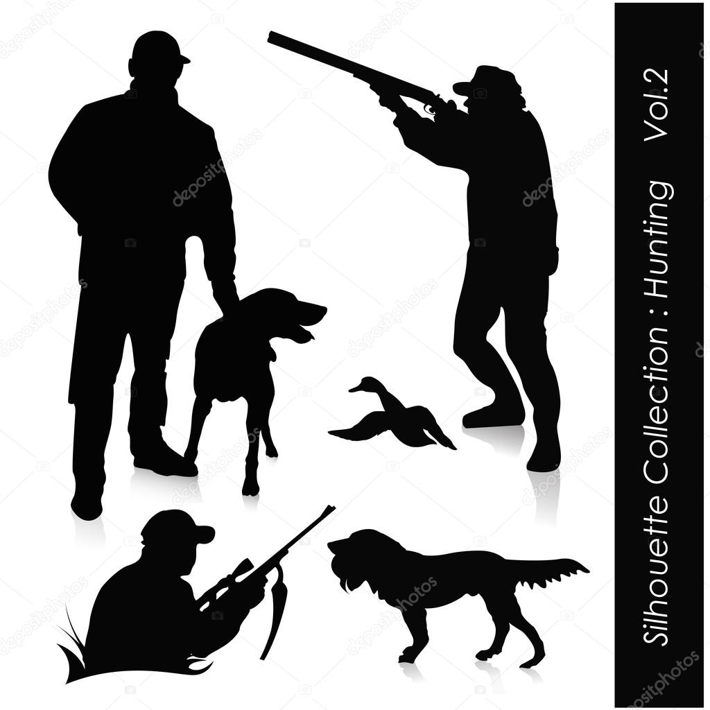Hunting silhouette  Imagens vectoriais em stock #18115195