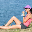 Royalty-Free Stock Photo: Sport woman drinking water