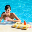Summer enjoy in pool — Stock Photo