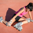 Stock Photo: Roller skater injury
