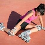 Roller skater injury — Stock Photo