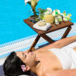 Summer relax in Spa — Stock Photo