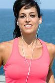 Female runner summer portrait — Stock Photo