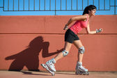 Female roller skater — Stock Photo