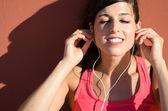 Listening music pleasure — Stock Photo
