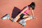 Roller skater injury — Stock Photo