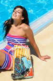 Summer Enjoy Woman — Stock Photo