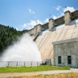 Dam spreading water — Stock Photo