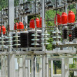 High voltage transformers — Stock Photo