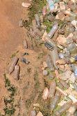 Toxic trash river — Stock Photo
