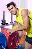 Trener i wagi — Zdjęcie stockowe