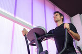 Hard Cardio in Elliptical — Stock Photo