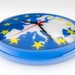 Euro Clock Crisis — Stock Photo
