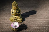 Buddha and shadow — Stock Photo