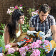 Stock Photo: Couple caring garden