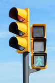 Green and red light semaphores — Stock Photo