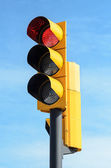 Semaforo a luce rossa — Foto Stock