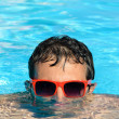 Man in pool — Foto Stock