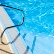 Stainless pool railing — Stock Photo