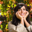 Stock Photo: Cute autumn face