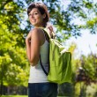 College student with backpack — Stock Photo #13512970