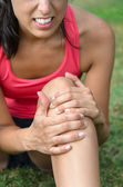 Knee sport injury — Stock Photo