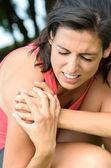 Dolor de la lesión del hombro — Foto de Stock