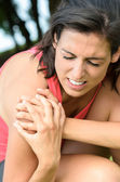 Shoulder lesion pain — Stock Photo