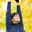 Stretching arms and shoulders — Stock Photo