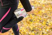 Sport och sträcker benet koncept — Stockfoto