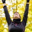 Sport woman happy victory — Stock Photo #14860969