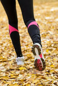Autumn running — Stock Photo
