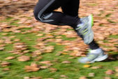 Motion blur running legs — Foto de Stock